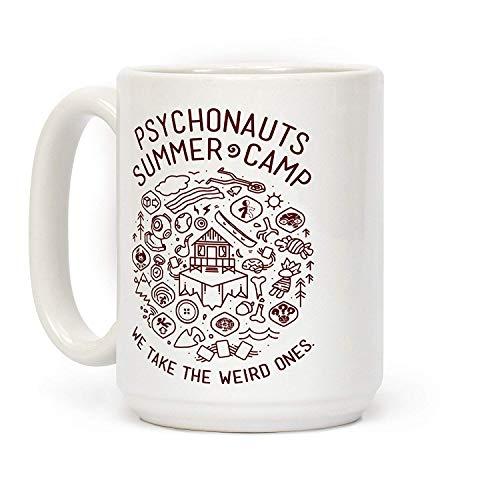 N\A Psychonauts Summer Camp Taza de Viaje de cerámica para el hogar (Blanco)