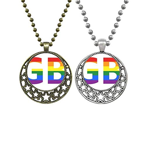 LGBT Transgender Bisexuals Support Lovers Necklaces Pendant Retro Moon Stars Jewelry