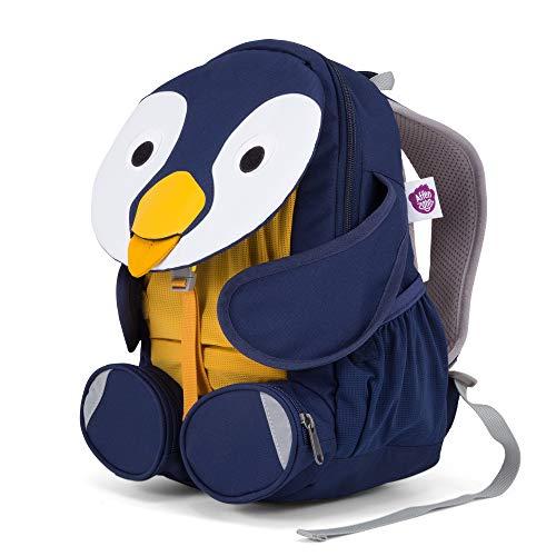 Affenzahn Großer Freund - Kindergartenrucksack für 3-5 Jährige Kinder im Kindergarten und Kinderrucksack für die Kita - Pinguin - Blau