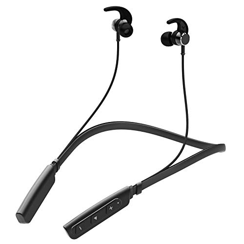 LIMESHOT Neckband in-Ear Wireless Earphones with 6 Hours Playtime,IPX5 Sweatproof Headphones, Latest Bluetooth 5.0 & Flexible Headset with in-Built Microphone (Red)
