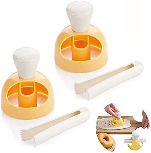 qieqie Donut Mould with Clip Doughnut Mould Donut Machine Maker Baking Tools Donut...