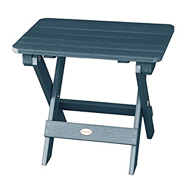 Highwood Folding Adirondack Side Table, Nantucket Blue