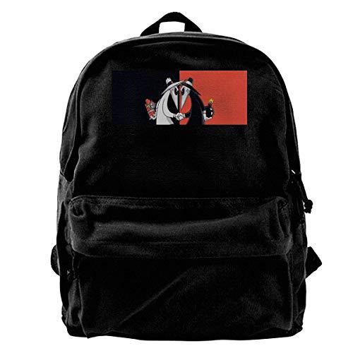 huatongxin Spy Vs Spy Fashion Casual Backpacks Print Canvas Daypacks Travel College Rucksack Backpack
