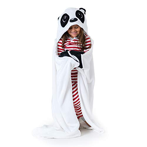 """Canoogles Panda Wearable Hooded Blanket for Kids 
