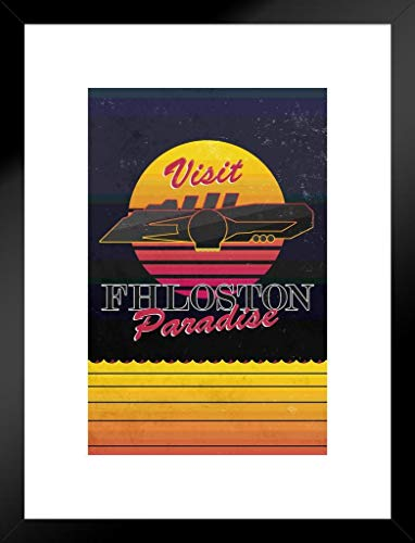Filmposter The Fifth Element Fhloston Paradise Fantasy 20x26 inches Matted Framed Poster