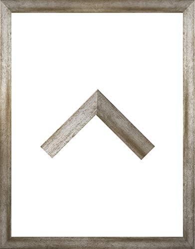 RahmenMax Morena Holz Werkstoff Bilderrahmen 31 x 42 cm modernes sehr eckiges Profil 42 x 31 cm Grosse Farbauswahl jetzt: Vintage Metall mit Kunstglas klar 1 mm