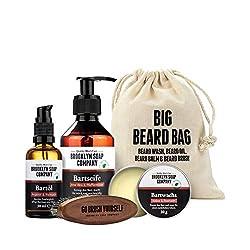 Big Beard Bag · Brooklyn Soap Company · Bartpflege-Set im Jutebeutel inkl. Bartshampoo, Bart-Öl, Bartwachs & veganer Bartbürste ✓