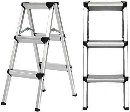 MGCD Step Ladder,Aluminum Folding Step Ladder,2/3/4/5 Step, Sturdy Heavy Duty Step Ladder, Ladder, 4Step (Color : 3StepLadder)