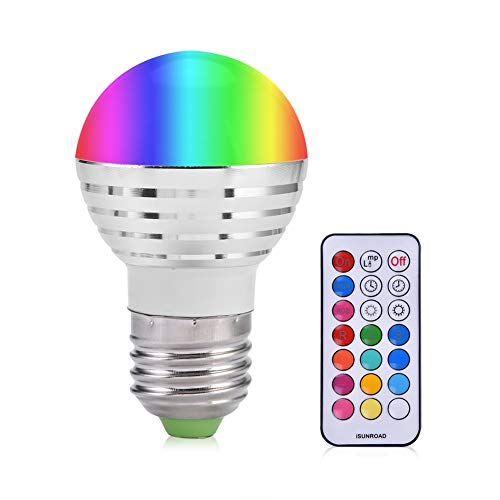 Smart Led Light Bulb, E27 3W RGB Wireless Smart Bulb 16 Colors Changing Daylight White LED Candle Night Light Lamp Bulb with Remote Control