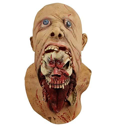 SSeir Halloween lopen dood volledig gezicht masker, resident kwaad monster Zombie Masquerade latex masker