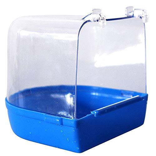 Cimoto - Scatola da bagno in plastica per uccelli, per parrocchetti, fringuelli, gabbia per animali domestici, parrocchetti, parrocchetti, parrocchetti per uccelli
