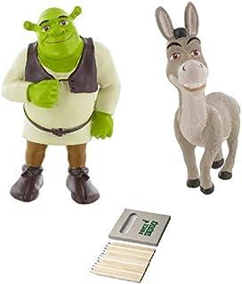 Price Toys Shrek Figuren   8 cm Shrek en Ezel Mini Figuren   Ideale Cake Topper voor Shrek Party (Shrek/Ezel)