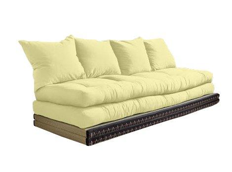 Vivere Zen - Divano Letto Futon - Kanto Double - 2 futon 80x200 + 2 Tatami 80x200 cm - Senza Cuscini