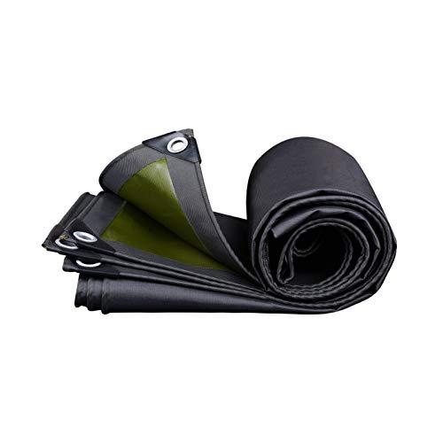 JDKC Lona Lona Multifuncional 570 G/M², 2 X 2 M Lona Negra para Exteriores, Resistente Al Mal Tiempo, Revestimiento en Ambos Lados, Impermeable, a Prueba de Lluvia, Protector Solar Tarp (Size : 5X8M)