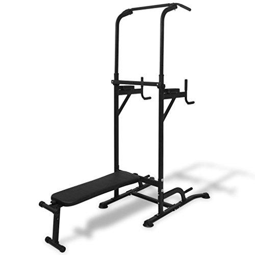 binzhoueushopping - Máquina multiestación con banco para abdominales, banco multifunción para gimnasio