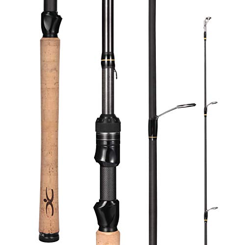 Cadence Essence Spinning Rod, Strong & Lightweight 24-Ton Graphite Rod, Stainless Steel Guides with SIC Inserts, Freshwater or Saltwater, Extremely Sensitive Spinning Rod (Essence 662S-LMF)