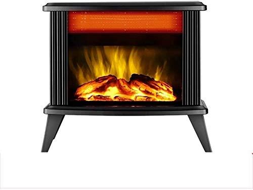 GJJSZ Estufa eléctrica portátil para chimeneas,con Efecto de Llama de leña,Ajuste de...