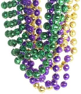 Rhode Island Novelty Mardi Gras Disco Ball Beads | 1 Dozen |