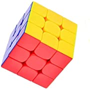 Vdealen Stickerless Speed Cube 3x3 Smooth Magic Cube Puzzle Colorful