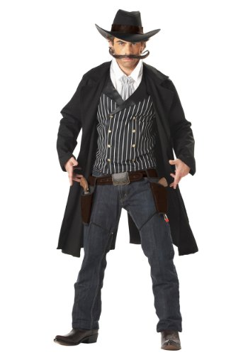 Déguisement Adulte Costume Homme Cowboy Western Tireur au Pistolet Far West Large