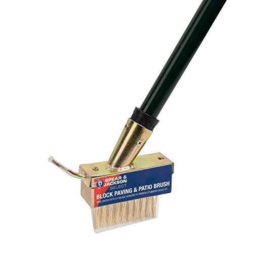Spear & Jackson The Paving and Patio Cleaner Brush Extra Long Telescopic Handle Wire Bristles and V...