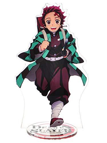 CoolChange Figura de plástico con Soporte de Kimetsu no Yaiba, Tanjiro Kamado o Nezuko Kamado, Figura: Tanjiro Kamado