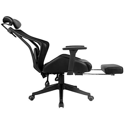 Living Decoration Bürostuhl Schreibtischstuhl Bürostühle für zu Hause Ergonomischer Büro-Liegestuhl mit Fußstütze Schreibtischstuhl mit hoher Rückenlehne und Lordosenstütze Atmungsaktiver Netzrücke