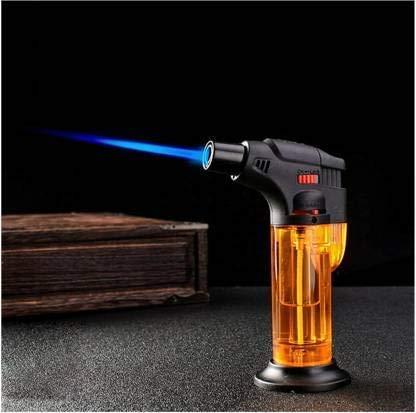 The Craft Store Refillable Butane Gas Torch Lighter - Windproof Jet Flame Butane Torch Lighter Pocket Lighter??(Red)
