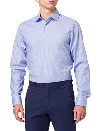 Seidensticker Seidensticker Herren Business Hemd Modern Fit - Bügelfreies Hemd mit geradem Schnitt, Business-Kent-Kragen & Brusttasche - Langarm - 100% Baumwolle