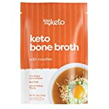 Kiss My Keto Bone Broth Noodle Soup — No Carb Shirataki Noodles + MCT Oil, Collagen (9g), 18 Amino Acids   Variety 3-Pack (Turkey, Chicken & Beef) — Instant Keto Noodles, High Protein Broth