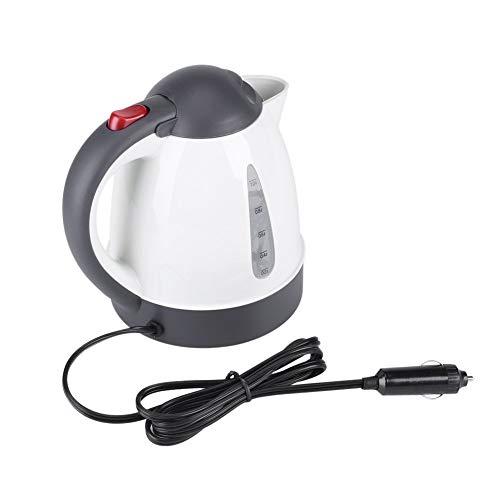 Fdit Tragbare Auto Wasserkocher Teekocher Reise Auto Zigarettenanzünder DC12V schnell Kochen für Tee Kaffee 1,0 Liter Automatisch Ausmachen(1 L)