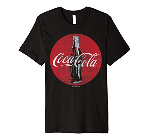 Coca-Cola Distressed Retro Bottle Disc Logo Graphic T-Shirt