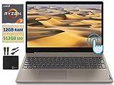 2021 Flagship Lenovo IdeaPad 3 15.6' HD TouchScreen Laptop Computer, Dual-Core AMD Ryzen 3 3250U Up to 3.5GHz (Beats i5-7500U), 12GB DDR4 RAM, 512GB PCIe SSD, Webcam, WiFi, Windows 10 + Marxsol Cables