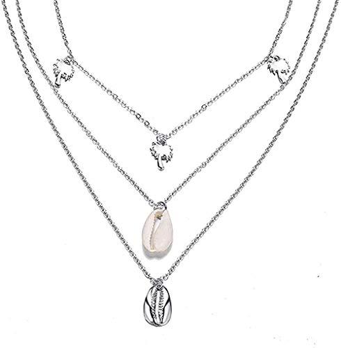 huangxuanchen co.,ltd Collar Vintage Collar de Concha de Concha para Mujer Colgante de Forma Simple Conch Ocean Beach joyería