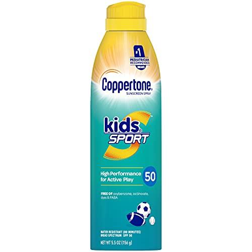 Coppertone SPORT KIDS Sunscreen Continuous Spray SPF 50 (5.5-Ounce)