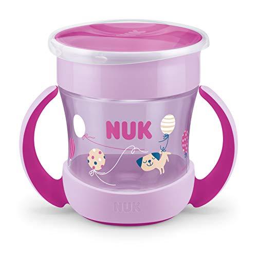 NUK Mini Magic Cup Trinklernbecher | 360° Trinkrand | 160ml | auslaufsicher | BPA-frei | 6+ Monate | rosa