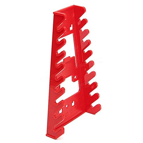 Llave inglesa herramienta 22 x 12 x 6 cm, llave inglesa roja titular de la llave de almacenamiento, organizador de herramientas