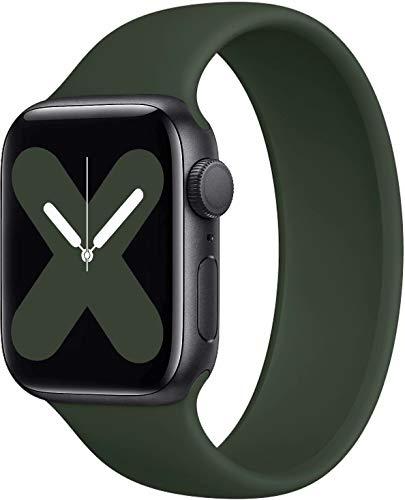 JONWIN Correa Solo Loop Compatible con Apple Watch 38mm 40mm,Sin Cierres ni Hebillas. Correa de Repuesto Deportiva de Silicona elástica para Pulsera para iWatch Series 6/5/4/3/2/1,SE,Green,1#