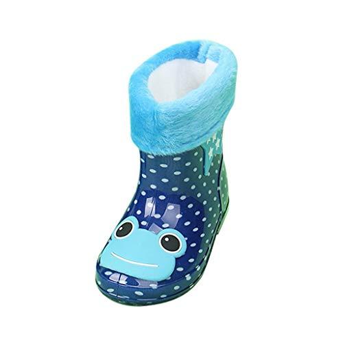 LILIGOD Baby Kinder Regenstiefel wasserdichte Kurze Stiefel Junge Mädchen Winter Plus Samt...
