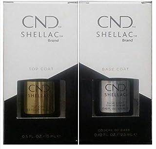 Shellac CND-Gel para uñas, de secado con UV, capa de base+capa de acabado, 12,5ml, envase grande