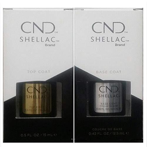 CND Shellac, smalto top coat e base da 12,5 ml, dimensione grande, gel UV3 (etichetta in lingua italiana non garantita)