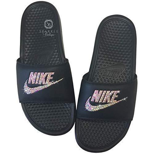 Nike Benassi JDI Slides with Crystals