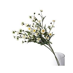 "Suandsu 3 Bouquet Artificial Daisy Chamomile Fake Silk Marguerites Flowers Home Hotel Office Garden Craft Art Decor Long Stem 29"" High"
