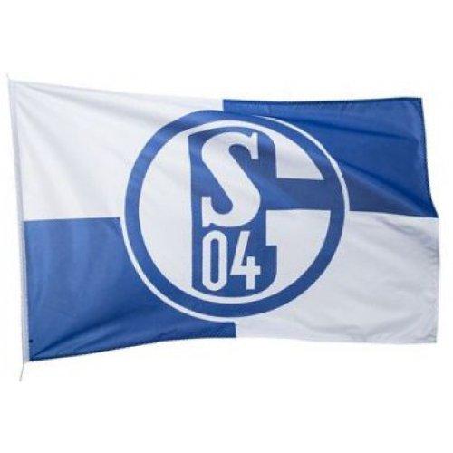 Everflag Hissfahne Schalke 04 Karo 150 x 100 cm