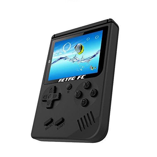 Portable Handheld Spielkonsole, Mini Game Console 3 Zoll Bildschirm 168 Klassische Spielkonsole Konsole - Schwarz