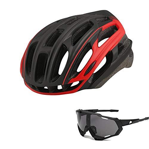 SFBBBO Casco Bicicleta 2020 Bicicleta de montaña, Bicicleta de Carretera, Casco de Seguridad para Montar, Cola con luz Trasera para Montar de Noche, Accesorios para Bicicletas ML54-61 color2