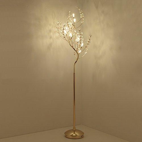 DUOER-staande lampen, led-kristallen vloerlamp, single stem, boom rake design, hoogte 67,76 inch, G4 LED, Europese stijl creatieve woonkamer nacht slaapkamer vloerlamp woonkamer