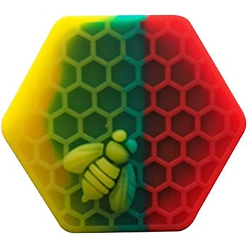 Silicone Container YHSWE 1 Rasta Silicone Honeybee Container 26ml Non Stick Hexagon Jar Multi Use Storage Box