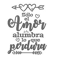 KDSMFAソロエルアモールアランブラロケペルドラウォールステッカースペイン語引用ヴィニー防水壁紙デカール家の装飾ポスター57x78cm