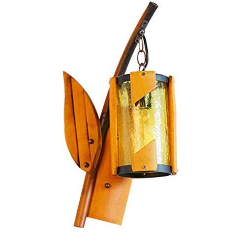 YLCJ wandlamp bamboe kunst retro industrie wind binnen restaurant thee winkel cafe bar balkon decoratieve gang E27 47 * 23 cm Hiso